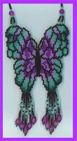 Beaded Butterfly Necklace Pattern at Sova-Enterprises.com