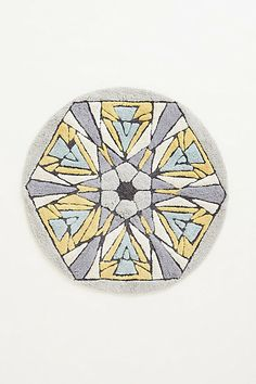 Tufted Kaleidoscope Bathmat    #anthropologie