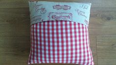 Handmade Cushion Cover in Fryetts Vintage Christmas Fabric Laura Ashley Gingham