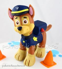 Resultado de imagem para step by step chase paw patrol cake topper