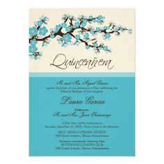 Plantable Quinceanera Invitations Spring Blooms Quinceanera