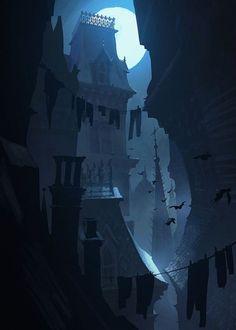 victorian favelas by scott duquette Spectrum The Best in Contemporary Fantastic Art Environment Concept, Environment Design, Fantasy Landscape, Landscape Art, Animation Background, Matte Painting, Visual Development, Environmental Art, Fantasy World
