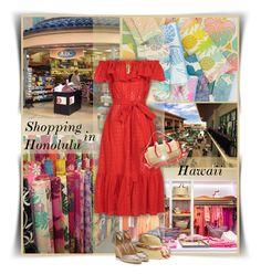 """Shopping in Honolulu - Princesses Mini Vacation in Hawaii"" by kiki-bi ❤ liked on Polyvore featuring Missoni Mare, Lisa Marie Fernandez, Aquazzura, Fendi and Allurez"