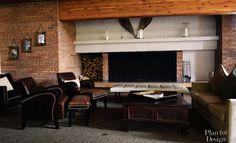 Salon w stylu Aspen. Aspen House, Conference Room, Mountain, Living Room, Table, Furniture, Home Decor, Decoration Home, Room Decor