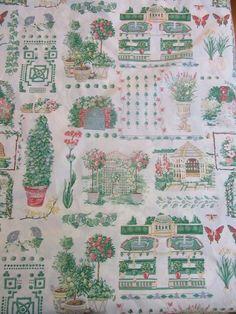 2 yards R E Thibaut Fabric Garden Maze #8162