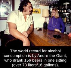 Fun fact: Andre the Giant weighed 520 lbs. I weigh By that logic, I should be able to drink 8 gallons of beer. Vomiting inside an Uber driver's car in Vegas showed that to be faulty logic. Beer Brewing, Home Brewing, Funny Memes, Hilarious, Funny Stuff, Random Stuff, Random Things, Andre The Giant, Root Beer