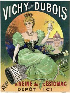 Vieille affiche sur Vichy