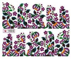 1 Sheet Bright Flowers Multi Mix Foils Glitter Manicure Tips Popular Nail Art Stickers Color Code11 -- Visit the image link more details.