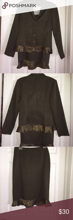 Olive Skirt Suit Olive Skirt Suit Skirts