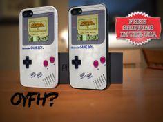 Nintendo Gameboy Zelda Game iPhone 5 Plastic Rubber Case by OYFH, $14.00
