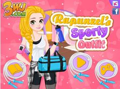 Piękna Roszpunka zabiera się za ostry trening na siłowni! Czy postarasz się dobrać odpowiednią stylizację, która nada się do ćwiczeń?  http://www.ubieranki.eu/ubieranki/10366/sportowy-look-roszpunki.html