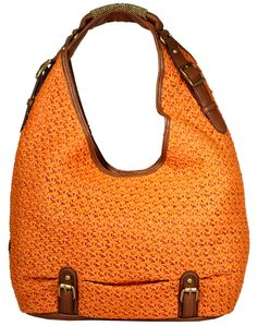 Jessica Simpson orange crochet Hobo #JessicaSimpson