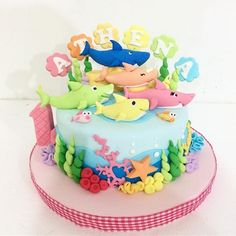 Baby shark cake #birthdaycake #bandungcake #delightfullycake #babyshark #pinkfong
