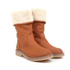 Beyond Skin Misty Camel faux suede faux sheepskin flat boot non leather pleather with synthetic faux leather lining 100% Vegan, vegetarian and cruelty-free.