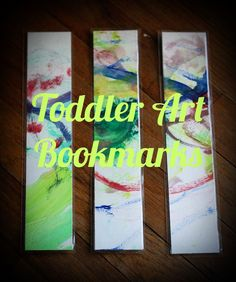 Toddler art bookmark