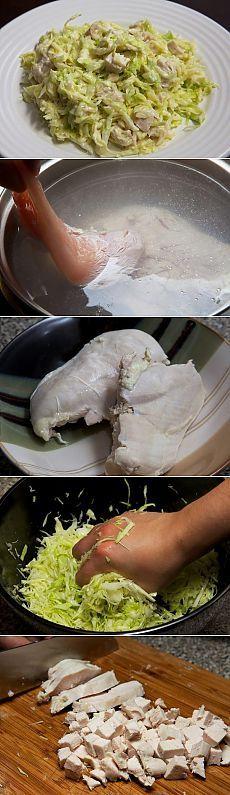 Очень вкусно! Салат из свежей капусты с курицей   Варварушка-Рукодельница