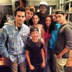 The cast of The Scorch Trials. At first I was like who is that kid?? Then I realized, he's a little Thomas!! We're going to get a flashback!!!