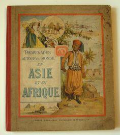 Livre Promenades autour du monde  en Asie et en Afrique - livre Algérie,Congo,Niger,Sénégal,