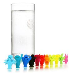 Colorful People to clip on your drink