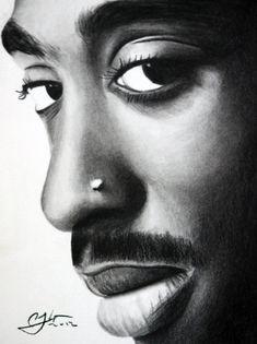 Tupac Shakur Stretched Canvas Print