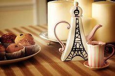 two things i dearly love: teapots and the eiffel tower.