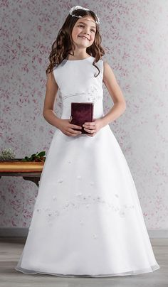 Graceful Communion Dress with Flowers - 70149 Emmerling - NEW 2015 - Emmerling…