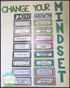 Growth mindset bulletin board.