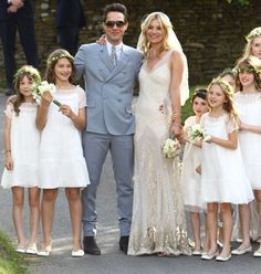 The Kate Moss wedding dress. Designed by the one and only John Galliano it was such a sleek feminine gown. Not your typical wedding dress but for kate it was perfect! She's never been a follower and it seemed only right that she had her own personal take on the look for her wedding.