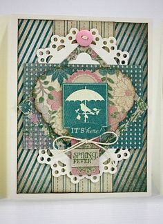 Card created by Shellye McDaniel with @Sunčica Sikirić Paper Seasons: Spring Collection.  Kit available at Scrapbooker's Emporium @ Etsy