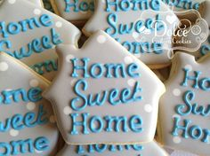 New Home Cookies House Warming Home Sweet Home Cookies - 1 Dozen (12 Pcs) by Dolce Custom Cookies on Gourmly