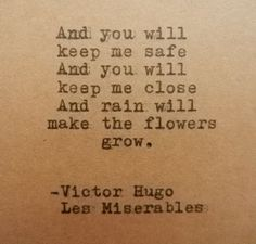 VICTOR HUGO Les MISERABLES Quote Hand Typed on Typewriter on Wanelo