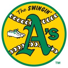 Oakland Athletics 1968-1982.  Why are there cleats in this logo?