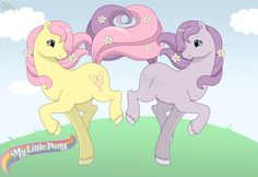 Pony BFFs by kuro-rakuen.deviantart.com on @deviantART generation two My Little Pony figures and G2 logo