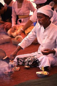 Balinese Hinduism Ceremony
