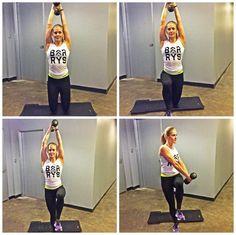High-intesity workout move: Samurai Chop (hamstrings, glutes, shoulders, core)
