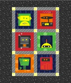robot quilt love this one too!