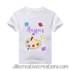 Artist T-shirt/ school smock t-shirt