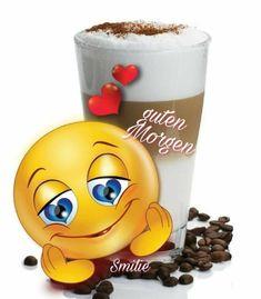 I wish you a good morning , Good Morning Smiley, Good Morning Gif, Good Morning Greetings, Funny Emoji Faces, Funny Emoticons, Smileys, Coffee Cartoon, Happy Smiley Face, Smiley Emoji