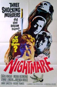 Hammer Horror Films, Hammer Films, Nightmare Movie, Suspense Movies, Horror Movie Posters, Horror Icons, Cinema Posters, Horror House, Classic Horror Movies