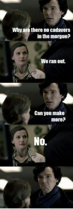 the look on sherlocks face at the end XD