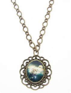 Cabochon vintage blue flower Blue Flowers, Pendant Necklace, Vintage, Jewelry, Fashion, Moda, Jewlery, Jewerly, Fashion Styles