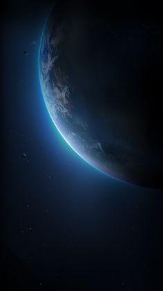 Earth wallpaper by misia_bela - 47 - Free on ZEDGE™ Wallpaper Earth, Planets Wallpaper, Wallpaper Space, Black Wallpaper, Screen Wallpaper, Beautiful Wallpaper, Earth And Space, Space Planets, Space And Astronomy