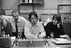 Paul McCartney, Ringo Starr and George Martin photographed by Linda McCartney