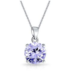 Bling Jewelry Simulated Lavender Alexandrite Cz Pendant Silver |... ($21) ❤ liked on Polyvore featuring jewelry, pendants, purple, polish silver jewelry, fake jewelry, cz jewelry, artificial jewellery and silver pendant necklace