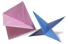 Origami Wheeling Top