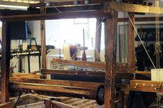 Original hand loom at Whitchurch Silk Mill #whitchurchsilkmill