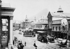 Can you guess which famous street in South Africa this is? Adderley Street in the early Cartwright's Corner where the trams branched off into Darling Street Old Pictures, Old Photos, Vintage Photos, Main Street, Street View, Cities In Africa, History Online, Cape Town South Africa, Port Elizabeth