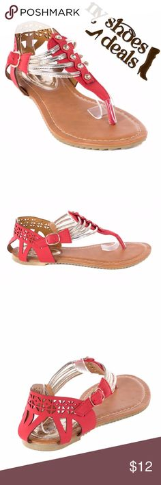 Women Red Slingback Thong Flat Sandals S-2004 Women red thong flats sandals. Perfect for walks on the beach. If you are taking a vacation, these sandals will show everyone that you know fashion! Victoria K Shoes Sandals