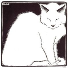 Maurits Cornelis Escher(Dutch,1898-1972) White Cat I   1919