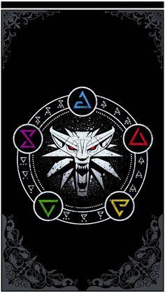 The Witcher Tattoo Wild Hunt The Witcher 3, The Witcher Wild Hunt, Witcher Art, Witcher Tattoo, Witcher Wallpaper, Magic Symbols, Viking Symbols, Gaming Tattoo, Ciri